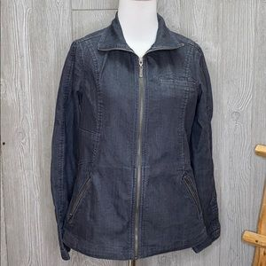 Prana Denim Zip Up Jacket Small